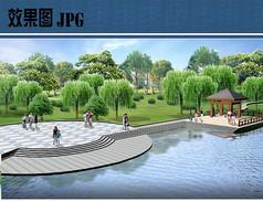 公园滨水节点效果图
