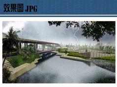 高架桥公园景观效果图