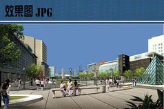 商业广场效果图