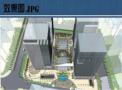 办公中心广场鸟瞰图