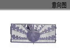 铁艺围栏大门素材