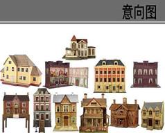 欧式上世纪建筑素材