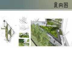 三角绿地设计