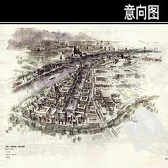 科隆城市发展手绘图