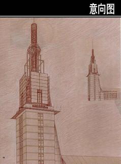 圣灵教堂手绘图