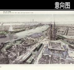 中国世博会手绘图
