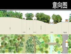 某滨海旅游景观剖面图