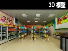 简易小超市3D模型