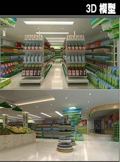 小超市3D模型