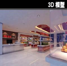 现代简约超市3D模型
