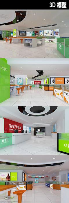 大型手机店3D模型