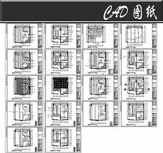 黑色古典风办公室平面图
