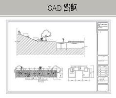 沙滩浴场CAD