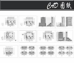综合商业办公楼平立面图
