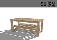 木质条框桌椅