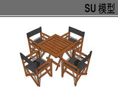 木质桌椅模型