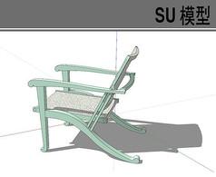 青色木质靠椅