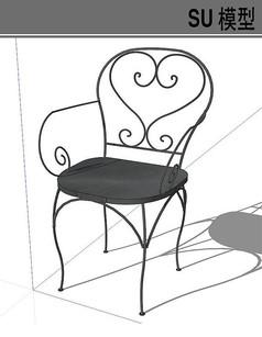 铁艺单人椅