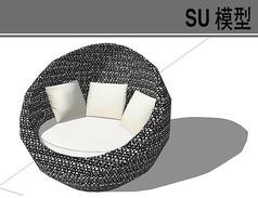 球型单人沙发