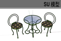 铁艺圆状桌椅