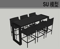 黑色高脚桌椅