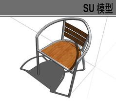 钢铁木质座椅