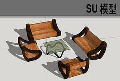 古典曲面座椅