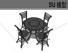 黑色钢铁桌椅