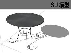 圆形铁艺桌