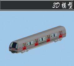 灰色小火车3D模型