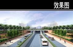 郑州某景观街规划效果图