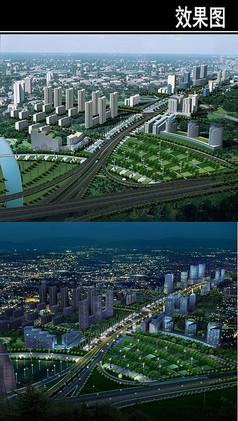 郑州城市景观大道鸟瞰图