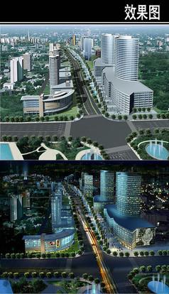 郑州景观大道未来大道鸟瞰图