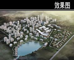 天津某养老社区规划鸟瞰图