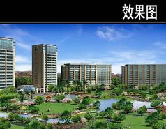 杭州某住宅区鸟瞰图