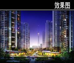 郑州某住宅区规划效果图