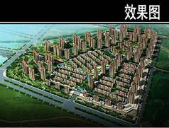 沈阳某住宅区规划鸟瞰图