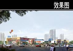 规划商业街透视