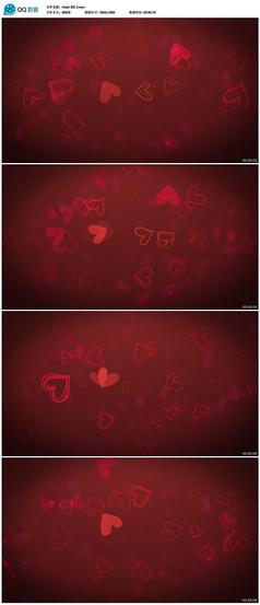 红色爱心背景视频