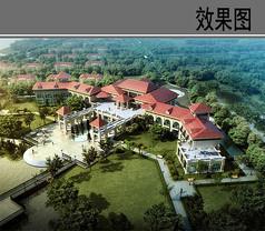 武汉某湖别墅效果图