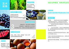 新鲜农产品配送服务折页