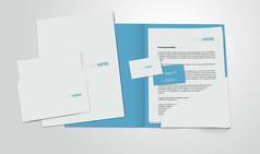 logo信封文件封面名片等模板展示