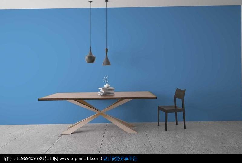 折叠桌椅子吊点书籍摆件组合设计素材免费下载_其他