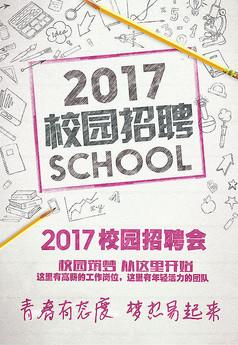2017年校园招聘海报模板