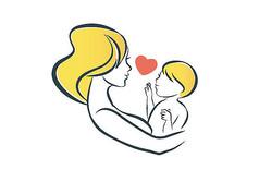 母婴绘画插画海报