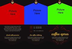 欧美风格咖啡店宣传单页设计