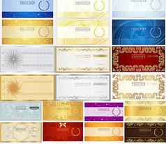 欧式金属质感证书模板eps