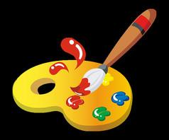 手绘卡通画板绘画工具元素