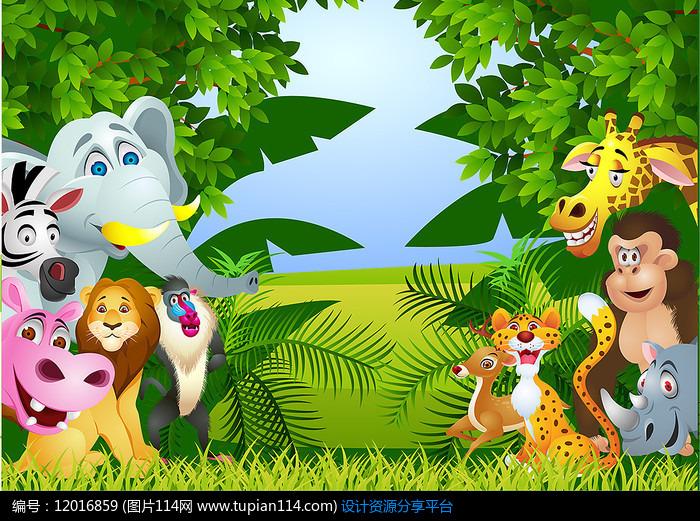 森林动物卡通素材图片