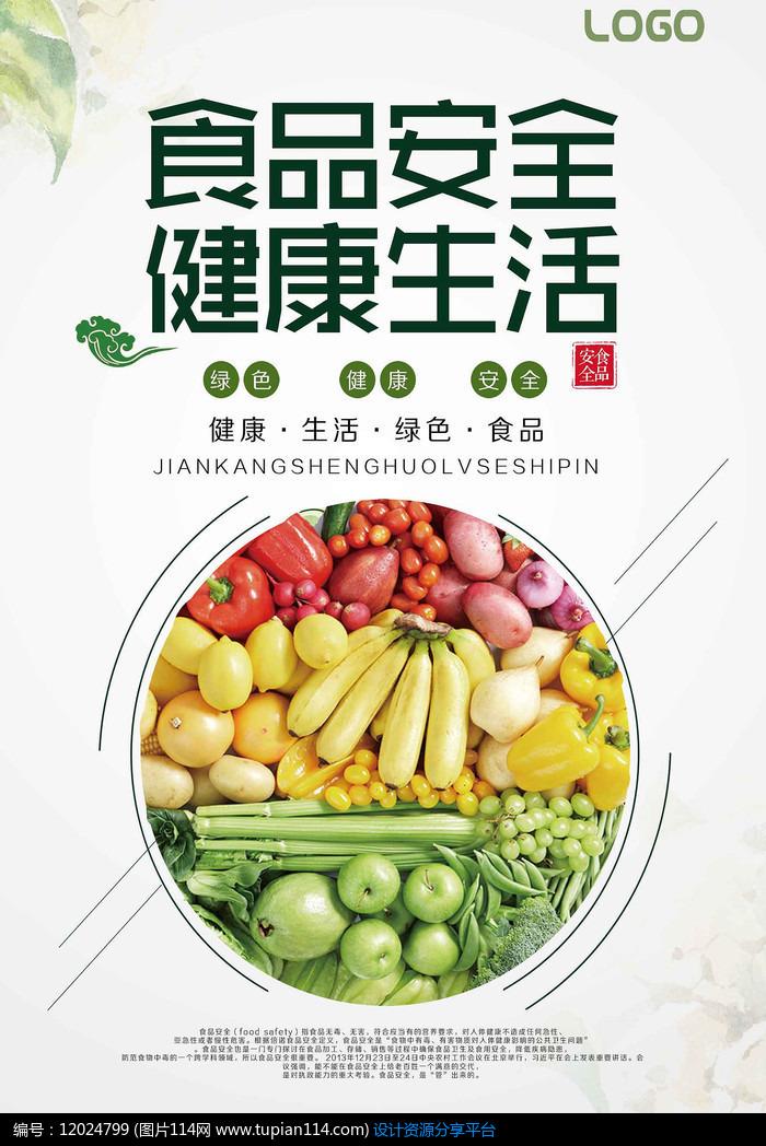健康生活食品安全宣传海报